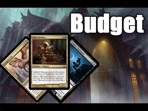 mtg deck budget mtg budget deck tech orzhov extort how to save money