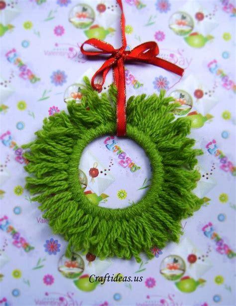 christmas craft ideas wreath ornament
