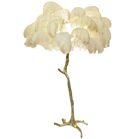 Hollywood Regency Sculptural Ostrich Feather Palm Tree