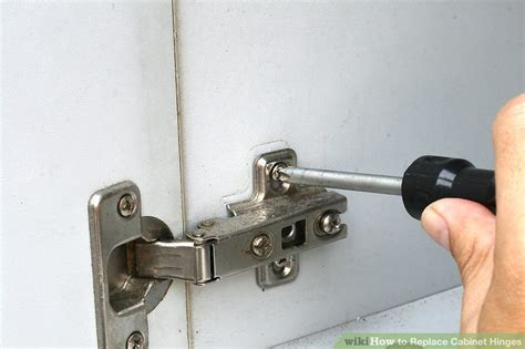 replacing kitchen cabinet hinges with concealed hinges 3 ways to replace cabinet hinges wikihow 9753