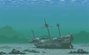 Underwater Shipwreck Drawings