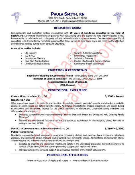 registered nurse resume sample nurse sample cover