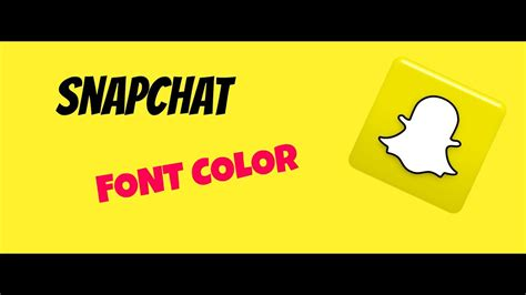 how to change font color on snapchat snapchat new update