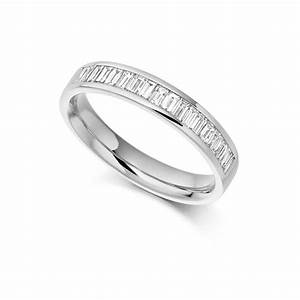 18ct white gold 056ct baguette cut diamonds channel set With cheap 18ct white gold wedding rings