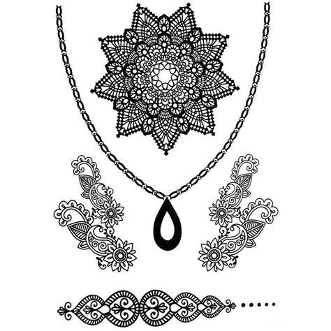 tatouage temporaire  ephemere collier dentelle  fleurs