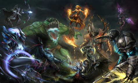 fonds decran dota  bataille guerrier monsters lina night