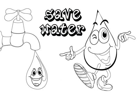 Coloring Pages Of Water by 20 Awesome Water Conservation Coloring Pages Ruva