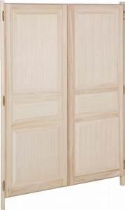 Portes de placard ouvrant à la francaise toute hauteur finition Bricoman