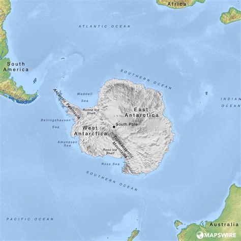 physical maps  antarctica mapswirecom