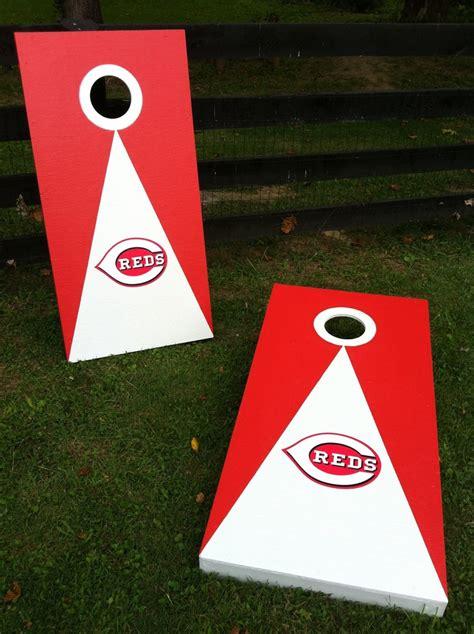 cincinnati reds cornhole boards bean bag toss