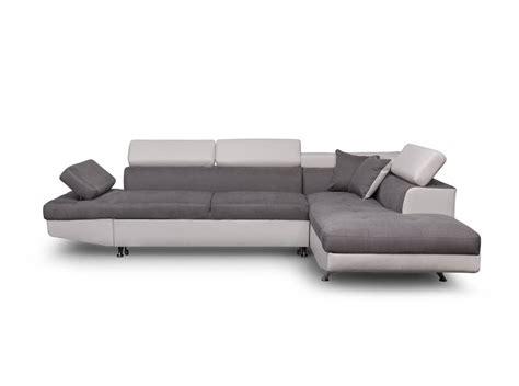 canapé d angle canapé d 39 angle droit convertible avec coffre blanc gris