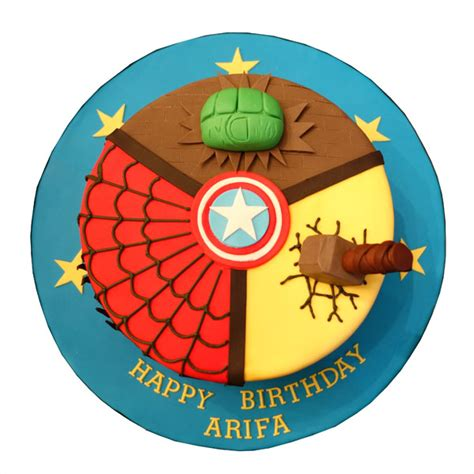 marvel cake hulk spiderman thor birthday cakes