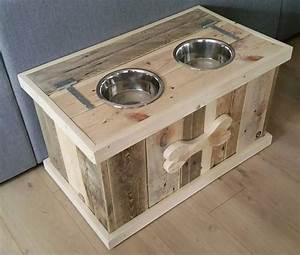 pallet dog bowl stand with storage dog bowl stand With dog bowl furniture