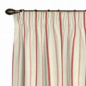 Blickdichte Vorhänge Mit Kräuselband : vorhang mit kr uselband creme rot streifen home24 ~ Buech-reservation.com Haus und Dekorationen