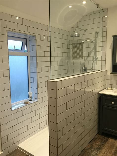 Bathroom Window Sill by Our New Bathroom With Metro Subway Tiles And Grey