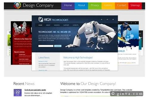 corporate website html templates free download