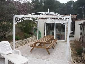 tonnelle sur mesure en fer forge pour terrasse ou jardin With pergolas en fer forge pour terrasse