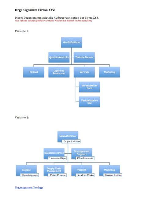organigramm vorlage word format muster vorlagech