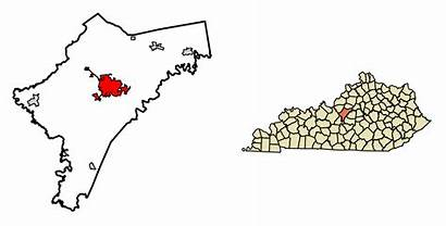 Nelson County Kentucky Highlighted Incorporated Unincorporated Bardstown