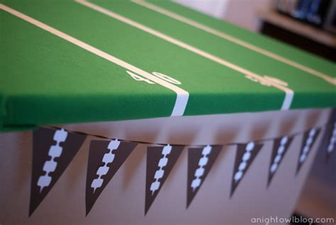 Easy Football Field Party Table   A Night Owl Blog