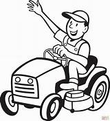 Coloring Mower Lawn Wickedbabesblog Tractor Drawing sketch template