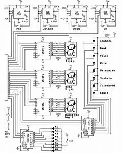 Midi Drum Machine Schematic  Front Panel