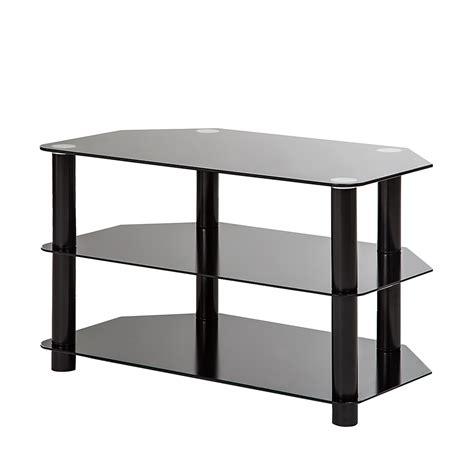 tv tisch glas tv rack schwarz glas metall tv mediam 246 bel tisch unterschrank phono neu ebay