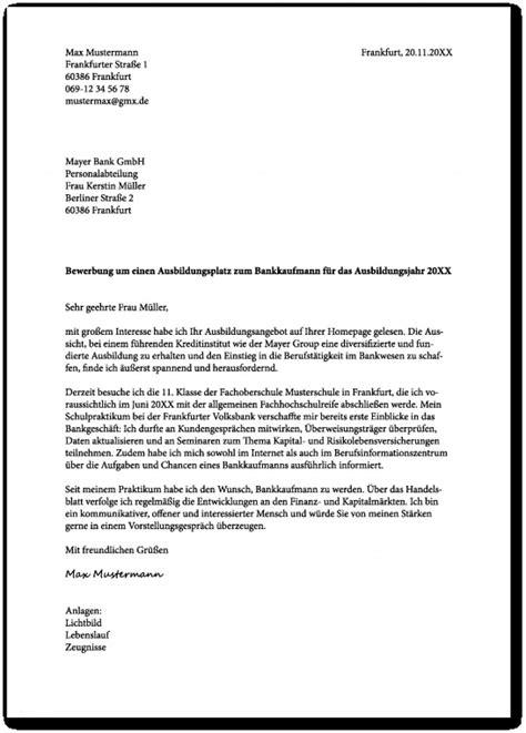Vorlage Bewerbung Ausbildung by 17 Bewerbungsschreiben Ausbildung Verk 228 Uferin Freyajacklin