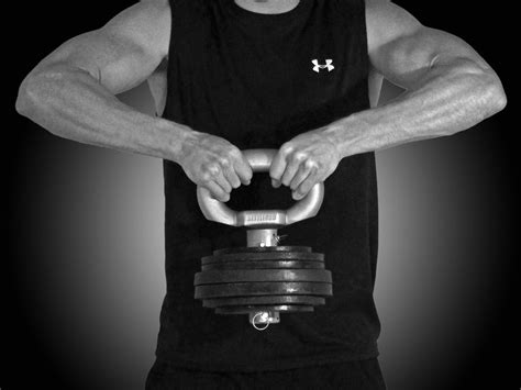 kettlebell adjustable plates uses handle olympic features pounds stand training