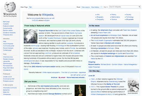 web page wikipedia home page wikipedia