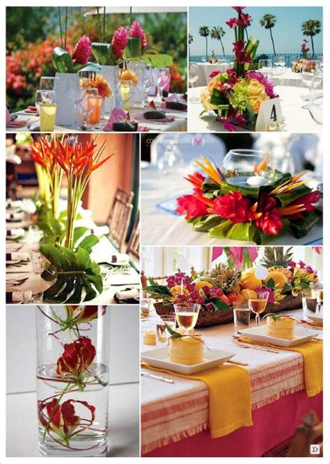 flowers   wedding dinner table deco mariage exotique