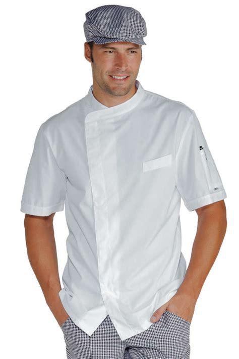vetement de cuisine professionnel pas cher veste chef cuisinier blanche tissu ultra léger vestes de