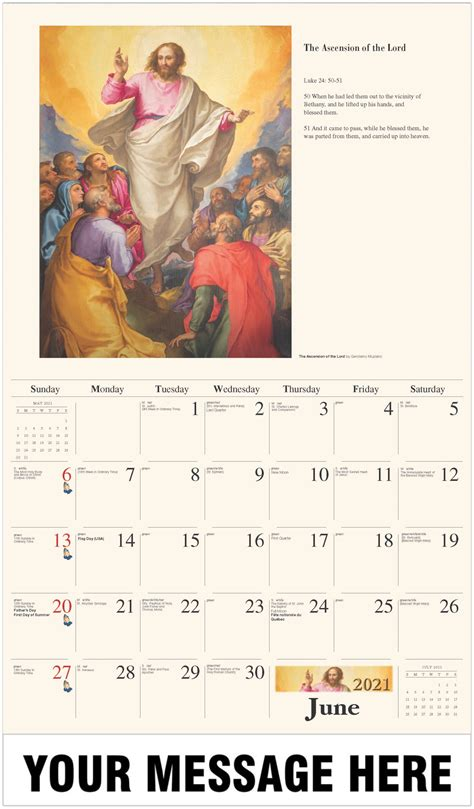 catholic art  promotional calendar fundraising
