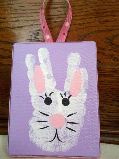 20 do it yourself easter crafts for 838 | Easter Bunny Handprint