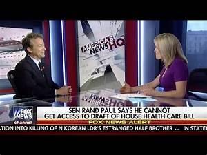 "Sen. Rand Paul on Fox News' ""America's News HQ"" - March 4 ..."