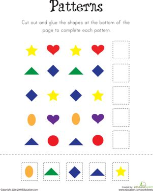 pattern practice worksheet education com