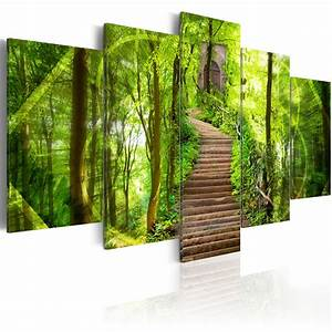 Bilder Natur Leinwand : leinwand bilder xxl wandbild bild natur wald landschaft treppen 030112 8 ebay ~ Markanthonyermac.com Haus und Dekorationen