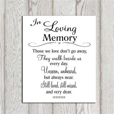 wedding memorial table  loving memory printable memorial