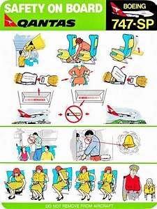 Qantas 747sp Safety Card