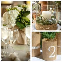 Cheap Burlap Wedding Centerpieces Ideas