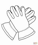 Coloring Gloves Nike Shoes Colorear Guantes Para Clothes Dibujo Printable Clipart Ropa Drawing Imprimir sketch template