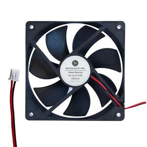 12v dc 120mm 25mm brushless 2 cooling fan led heatsink marine pc cpu 742806512461 ebay