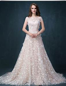 short sleeve cheap champagne lace wedding dress with With champagne wedding dresses with sleeves