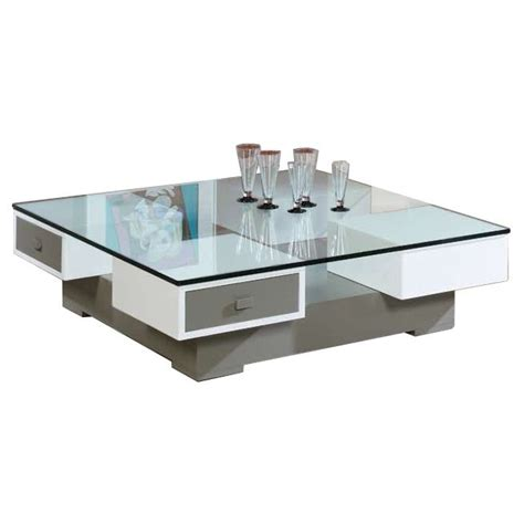 chill table basse carree plateaux en verre table basse carr 233 e olga avec plateau en verre achat vente table basse table basse carr 233 e