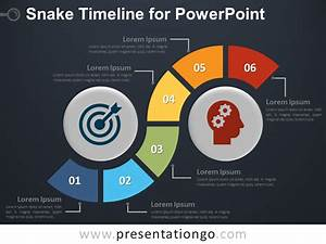 Snake Timeline Diagram For Powerpoint