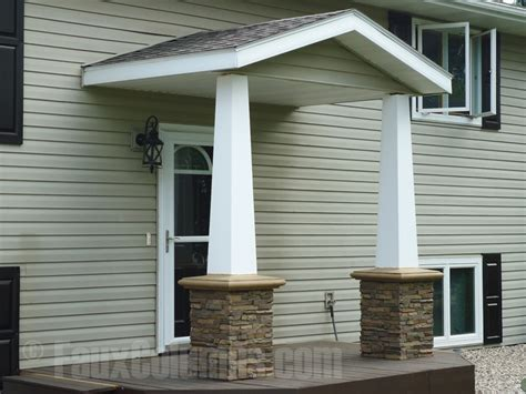 Decorative Front Porch Columns - faux column wraps for added style creative columns