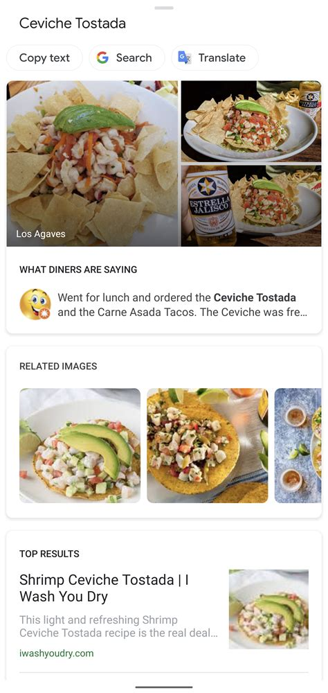dishes lens maps google menus browsing helps choose restaurant