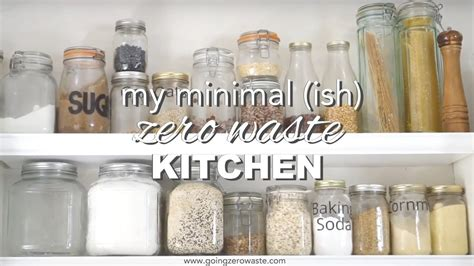 Minimal, Zero Waste Kitchen Tour Youtube