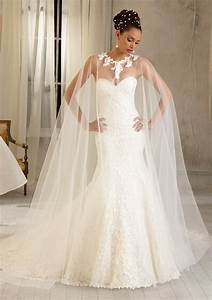 morilee bridal wedding cape with laser cut satin pattern With cape for wedding dress
