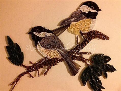 quilled chickadees  mainely quilling  quilling